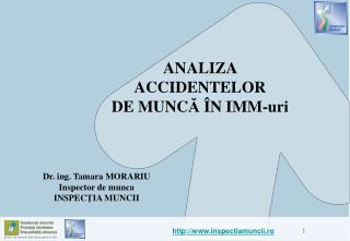 ANALIZA  ACCIDENTELOR  DE MUNCA  N IMM-uri