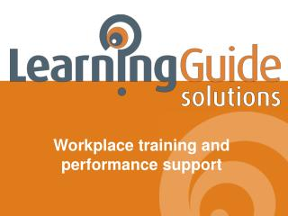 Workplace training and performance support