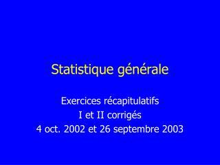 Statistique g n rale