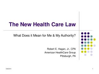 The New Health Care Law