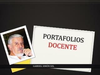 PORTAFOLIOS DOCENTE