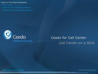 Ceedo for Call Center