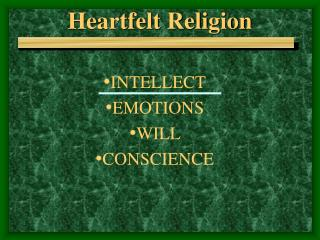 Heartfelt Religion