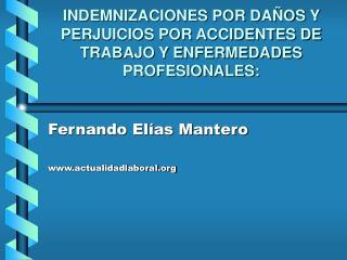 INDEMNIZACIONES POR DA OS Y PERJUICIOS POR ACCIDENTES DE TRABAJO Y ENFERMEDADES PROFESIONALES: