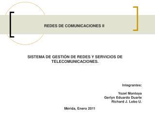 REDES DE COMUNICACIONES II