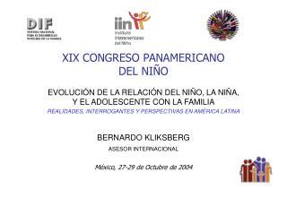 XIX CONGRESO PANAMERICANO  DEL NI O