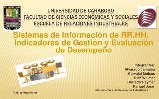 Universidad de Carabobo Facultad de Ciencias Econ micas y Sociales Escuela de relaciones industriales