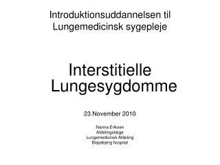 Introduktionsuddannelsen til Lungemedicinsk sygepleje
