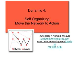 Dynamic 4:  Self Organizing Move the Network to Action