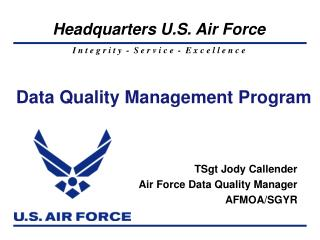 Data Quality Management Program