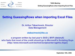 Setting GuessingRows when importing Excel Files