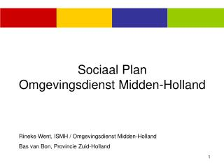 Sociaal Plan Omgevingsdienst Midden-Holland
