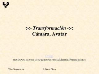 Transformaci n  C mara, Avatar