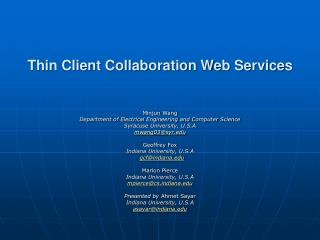Thin Client Collaboration Web Services