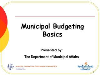 Municipal Budgeting Basics