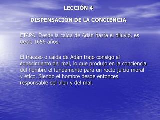 LECCI N 4