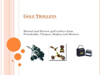 Electric Golf Trolleys