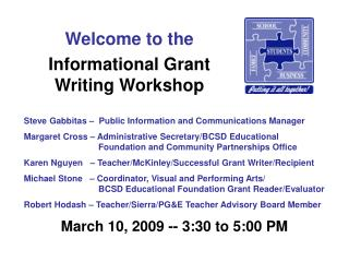 Informational Grant Writing Workshop