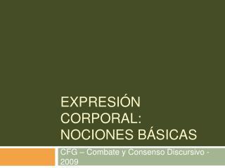 Expresi n corporal: nociones b sicas