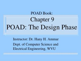 POAD Book:  Chapter 9 POAD: The Design Phase
