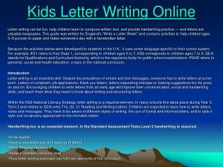 Kids Letter Writing Online