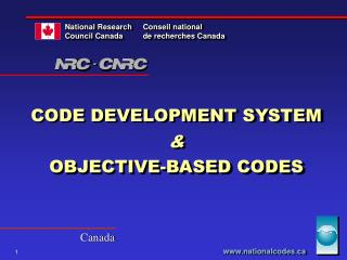 CODE DEVELOPMENT SYSTEM   OBJECTIVE-BASED CODES