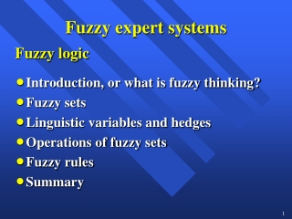 Chapter 3:  Fuzzy Rules  Fuzzy Reasoning