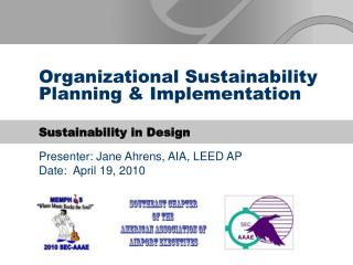 Organizational Sustainability Planning  Implementation