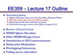 EE359   Lecture 17 Outline