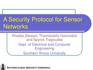 A Security Protocol for Sensor Networks