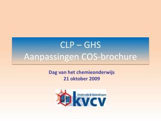 CLP   GHS Aanpassingen COS-brochure