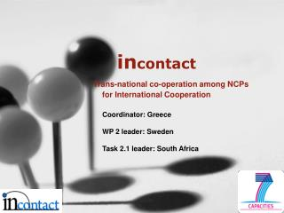 Incontact       Trans-national co-operation among NCPs for International Cooperation