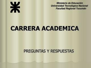 CARRERA ACADEMICA