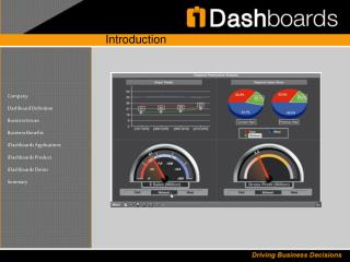 Company  Dashboard Definition  Business Issues  Business Benefits  iDashboards Applications  iDashboards Product  iDashb