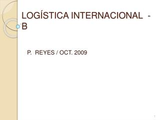 LOG STICA INTERNACIONAL  - B
