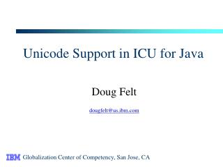 Unicode Support in ICU for Java