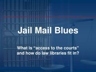 Jail Mail Blues