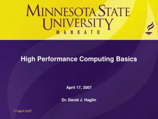 High Performance Computing Basics