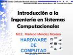 Introducci n a la Ingenier a en Sistemas Computacionales