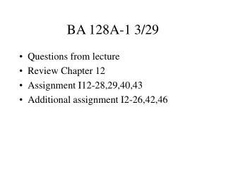BA 128A-1 3