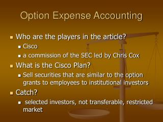 Option Expense Accounting