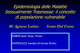 Epidemiologia delle Malattie Sessualmente Trasmesse: il concetto di popolazione vulnerabile