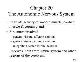 Chapter 20 The Autonomic Nervous System
