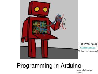 Programming in Arduino