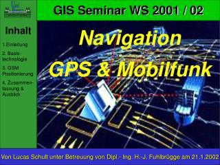 Navigation GPS  Mobilfunk