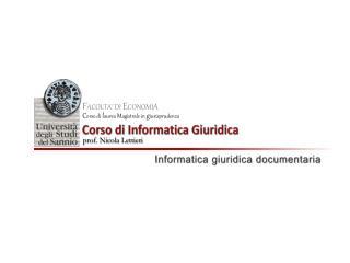 Informatica e  documentazione giuridica