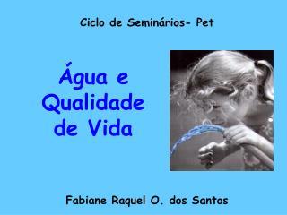Ciclo de Semin rios- Pet          Fabiane Raquel O. dos Santos