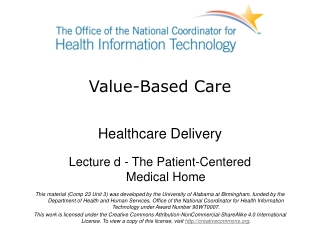 Patient Centered Medical Home     An Overview of This New Care Model