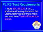 FL EDI R3  Test Requirements