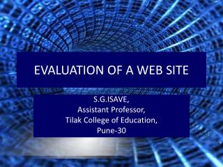 Evaluation of Web site